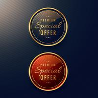 special offer label design set