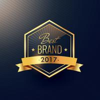 best brand of 2017 golden label design