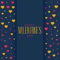 blauer Hintergrund mit Herzmuster zum Valentinstag