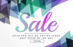 modelo de design de banner abstrato geométrico venda para promoção