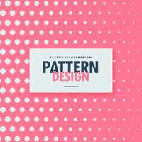 padrão de pontos limpos no fundo rosa