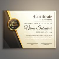 premium certifikat design vektor mall