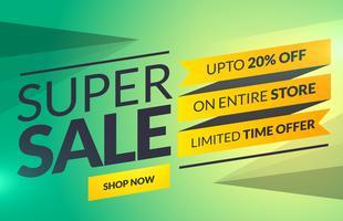 Super Sale horizontale Banner oder Gutschein-Kartenvorlage