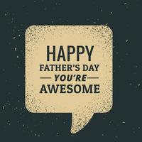 gelukkige die vadersdagtekst in praatjebel wordt geschreven