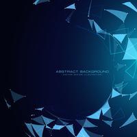 Blauer Technologiehintergrund mit abstrakten Formen
