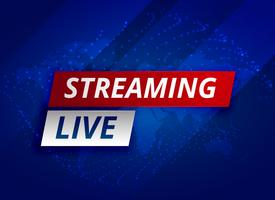 Streaming Live-News Hintergrundvorlage