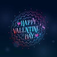 kreativer glücklicher Valentinstaggruß mit dekorativem Design