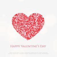 kreativt hjärta med glitterbakgrund
