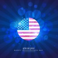 Ikone der amerikanischen Flagge im blauen Hintergrund