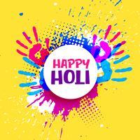feliz holi celebração cartaz banner vector design