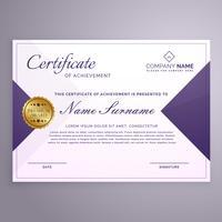 modelo de design de certificado de estilo minimalista