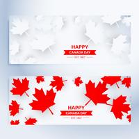 uppsättning lyckliga canada dag banners