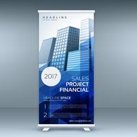 abstracte oprolbare banner met promotioneel ontwerp
