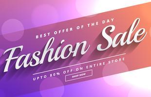 Modeverkauf und Rabattgutscheinvorlagendesign