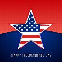 estrela com fundo da bandeira americana