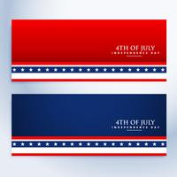 limpar 4 de julho banners americanos