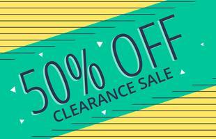 memphis style sale banner vector design