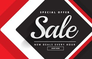 red black awesome sale banner template design for promotion