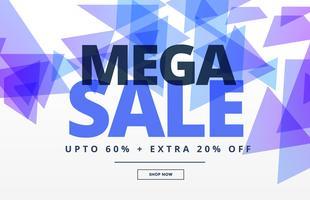 mega verkoop abstracte banner ontwerpsjabloon