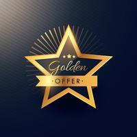 gyllene erbjudande etikett emblem design i lyx och premium stil