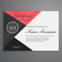 certificado geométrico design em estilo moderno