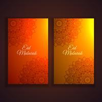 conjunto de panfletos e banners de festival eid