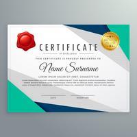 modelo de design elegante certificado geométrico