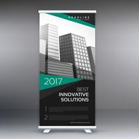 modernes Roll-Up-Banner-Design für Business-Präsentation