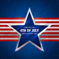 4. von Juli-Hintergrund mit Stern und roten Streifen