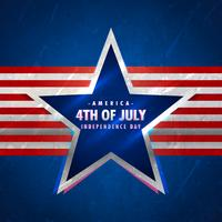 4 juli achtergrond met ster en rode strepen