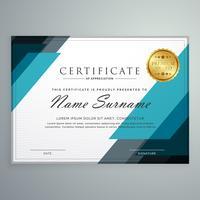elegante certificado de modelo de design de prêmio de valorização com g
