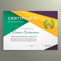 abstract geometrisch certificaat van verwezenlijkingssjabloon