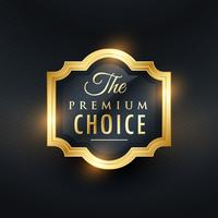 premium choice golden label design
