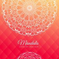 ljusrosa bakgrund med mandala konst
