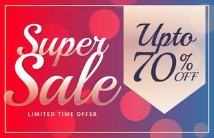 super verkoop levendige brochure ontwerpsjabloon in vector