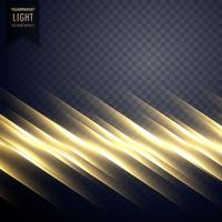 eleganter goldener Lichtlinieneffekthintergrund