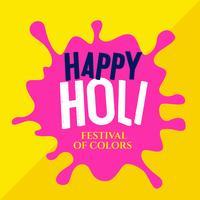 pink watercolor splash for happy holi