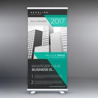 publicité moderne roll up display banner template