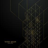 líneas geométricas de oro sobre fondo negro