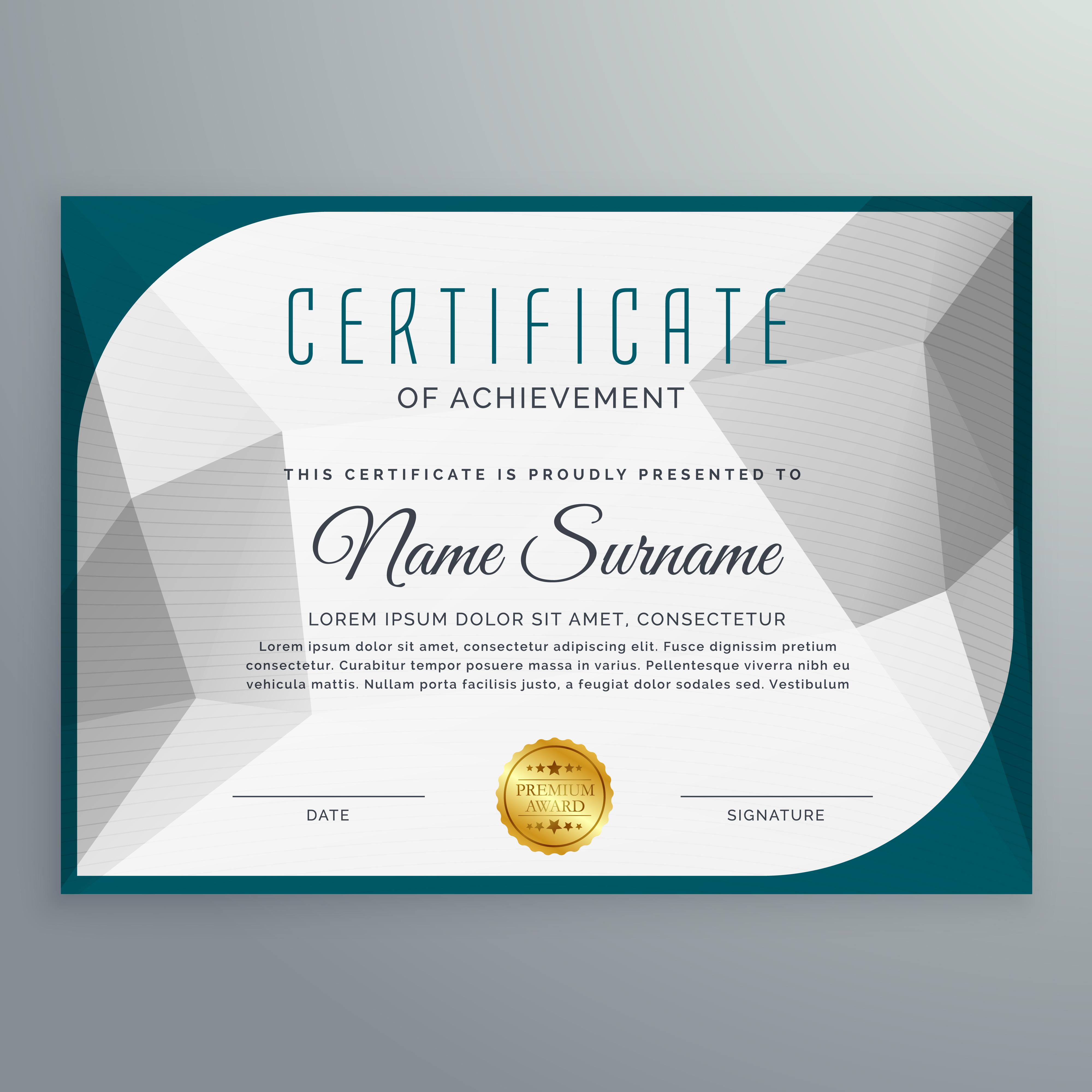Creative simple certificate design template with abstract shape creative simple certificate design template with abstract shape download free vector art stock graphics images alramifo Images