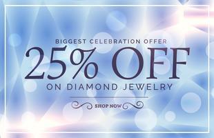 design de cartaz de venda de estilo de luxo para marca de jóias