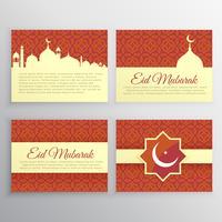 uppsättning islamiska kort