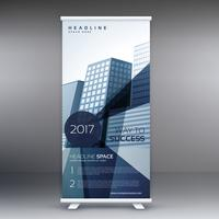 elegant business standee modern roll up banner design template