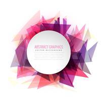 Triángulo abstracto formas marco colorido con espacio para su texto