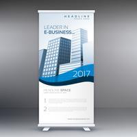 saubere moderne Rollup-Banner-Vorlage für Ihr Unternehmen