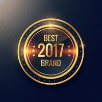 Årets bästa märke guld etikett märke etikett vektor design