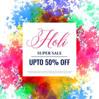 felice holi vendita banner design background