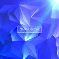 blu astratto triangolo low poly design di sfondo
