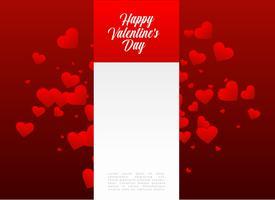 lycklig valentins dagdesign med textutrymme