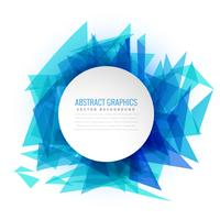 blue abstract triangle background frame
